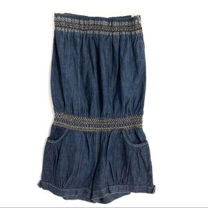 Hot and Delicious Denim Romper Shorts Large